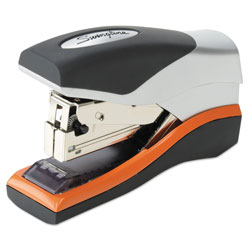 Swingline Optima 40 Compact Stapler, 40-Sheet Capacity, Black/Silver/Orange