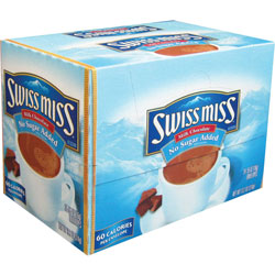 Swiss Miss Hot Chocolate, Instant, .55 oz Packets, 24/BX, No Sugar Added