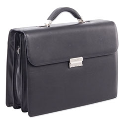 Swiss Mobility Milestone Briefcase, Holds Laptops 15.6 in, 5 in x 5 in x 12 in, Black