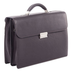 Swiss Mobility Milestone Briefcase, Holds Laptops, 15.6 in, 5 in x 5 in x 12 in, Brown