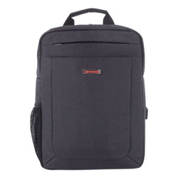 Swiss Mobility Cadence Slim Business Backpack, Holds Laptops 15.6 in, 4.5 in x 4.5 in x 17 in, Charcoal