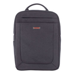 Swiss Mobility Cadence 2 Section Business Backpack, For Laptops 15.6 in, 6 in x 6 in x 17 in, Charcoal