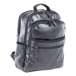 Swiss Mobility Valais Backpack, Holds Laptops 15.6 in, 5.5 in x 5.5 in x 16.5 in, Black