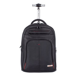 Swiss Mobility Purpose Overnight Backpack On Wheels, 11 in x 11 in x 21.5 in, Black