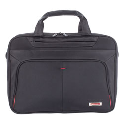 Swiss Mobility Purpose Executive Briefcase, Holds Laptops 15.6 in, 3.5 in x 3.5 in x 12 in, Black