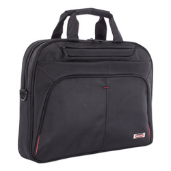 Swiss Mobility Purpose Slim Executive Briefcase, Hold Laptops 15.6 in, 2.5 in x 2.5 in x 12 in, Black
