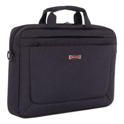 Swiss Mobility Cadence Slim Briefcase, Holds Laptops 15.6 in, 3.5 in x 3.5 in x 16 in, Charcoal