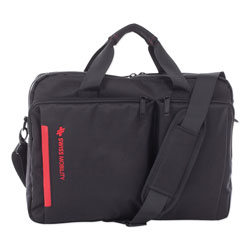 Swiss Mobility Stride Executive Briefcase, Holds Laptops 15.6 in, 4 in x 4 in x 11.5 in, Black