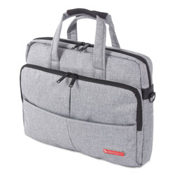 Swiss Mobility Sterling Slim Briefcase, Holds Laptops 15.6 in, 3 in x 3 in x 11.75 in, Gray