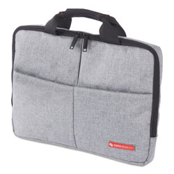 Swiss Mobility Sterling Slim Briefcase, Holds Laptops 14.1 in, 1.75 in x 1.75 in x 10.25 in, Gray