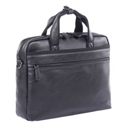Swiss Mobility Valais Executive Briefcase, Holds Laptops 15.6 in, 4.75 in x 4.75 in x 11.5 in, Black