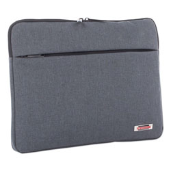 Swiss Mobility Sterling 14 in Computer Sleeve, Holds Laptops 14.1 in, 1 in x 1 in x 10.5 in, Gray