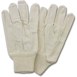 The Safety Zone Canvas Gloves, Knit Wrist, 12 PR/DZ, Natural