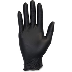 The Safety Zone Nitrile Exam Gloves, Large, 4 Mil, Black