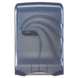 San Jamar Ultrafold Multifold/C-Fold Towel Dispenser, Oceans, Blue, 11 3/4 x 6 1/4 x 18