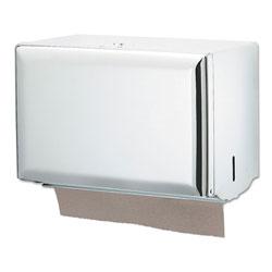 San Jamar Singlefold Paper Towel Dispenser, White, 10 3/4 x 6 x 7 1/2