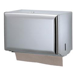 San Jamar Singlefold Paper Towel Dispenser, Chrome, 10 3/4 x 6 x 7 1/2