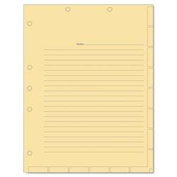 Tabbies Medical Chart Index Divider Sheets, 11 x 8.5, Manila, 400/Box