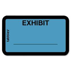 """Tabbies Legal Exhibit Labels, """"Exhibit"""", 1 5/8""""x1"""", Blue"""