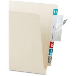 Tabbies Self-Adhesive Label/File Folder Protector, Top Tab, 3 1/2 x 2, Clear, 500/Box