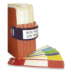 Tabbies File Pocket Handles, 9.63 x 2, Dark Blue/White, 4/Sheet, 12 Sheets/Pack