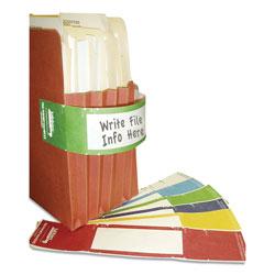 Tabbies File Pocket Handles, 9.63 x 2, Green/White, 4/Sheet, 12 Sheets/Pack