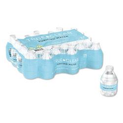 True Clear® Purified Bottled Water, 8 oz Bottle, 24 Bottles/Carton