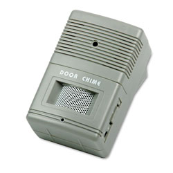 Tatco Visitor Arrival/Departure Chime, Battery Operated, 2.75w x 2d x 4.25h, Gray
