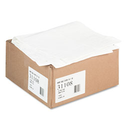 Tatco Paper Table Cover, Embossed, w/Plastic Liner, 54 in x 108 in, White, 20/Carton