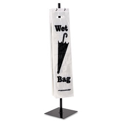 Tatco Wet Umbrella Bag Stand, Powder Coated Steel, 10w x 10d x 40h, Black