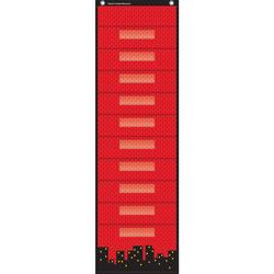 Teacher Created Resources Superhero 10 Pocket File Storage Pocket, Red/Black