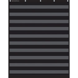 Teacher Created Resources 10-Pocket Chart, 34 in x 44 in, Black