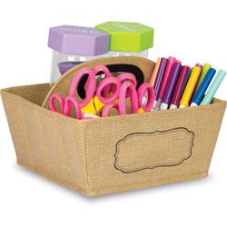 Teacher Created Resources Storage Caddy w/Handle, 9 inx6 inx9 in, Brown