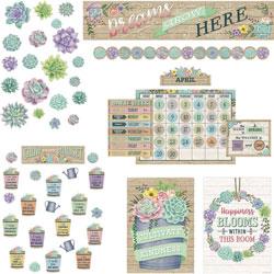Teacher Created Resources Decorative Set, Rustic Bloom, 18 inWx30-1/4 inLx1-1/2 inH, Multi