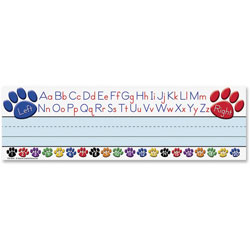 Teacher Created Resources Paw Prints Left/Right Alphabet Nameplate, 36/Pack