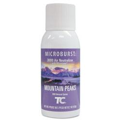 Rubbermaid Microburst 3000 Refill, Mountain Peaks, 2 oz Aerosol, 12/Carton