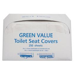 GEN Half-Fold Toilet Seat Covers, White, 14 3/4 x 16 1/2, 5000/Carton