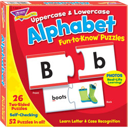 Trend Enterprises Puzzle, Alphabet, 3 inWx3 inH, MI