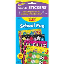 Trend Enterprises Stickers, School Fun, Variety, 648 EA/PK, MI