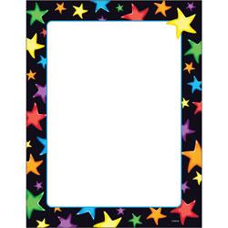 Trend Enterprises Papers, Terrific, Gel Stars, 8-1/2 in x 11 in, 50 SH/PK, Multi