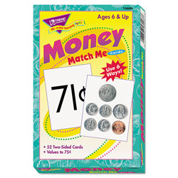 Trend Enterprises Match Me Cards, Money-US Currency, 52 Cards, Ages 6 and Up