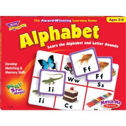 Trend Enterprises Alphabet Match Me Puzzle Game, Ages 4-7