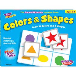 Trend Enterprises Colors and Shapes Match Me® Game, Ages 4-7