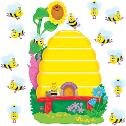 Trend Enterprises Busy Bees Job Chart Plus Bulletin Board Set 18 1/4 in X 17 1/2 in