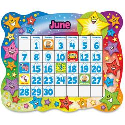 Trend Enterprises Star Calendar Bulletin Board Set, Stars, 31 1/2 in x 26 in