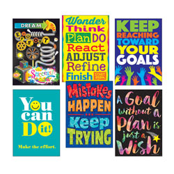 Trend Enterprises ARGUS Poster Combo Pack,  inGoal-Getter in, 13 3/8w x 19h