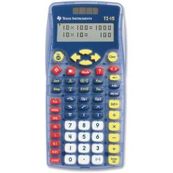 Texas Instruments TI-15 TI 15 Explorer Calculator with Math Explorer Fraction Capabilities, 2 Line Display