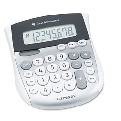 Texas Instruments TI-1795SV Minidesk Calculator, 8-Digit LCD