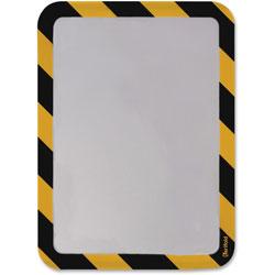Tarifold High Visibility Safety Frame Display Pocket-Magnet Back, 10 1/4 X 14 1/2, YW/BK