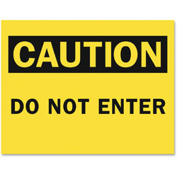 Tarifold Safety Sign Inserts-Caution Do Not Enter, Yellow/Black